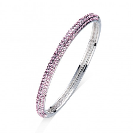 Charming S925 Sterling Silver Inlaid Crystal Women Bracelet