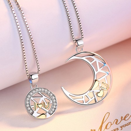925 Silver Trendy Ladies Necklace Valentine'S Day Gift