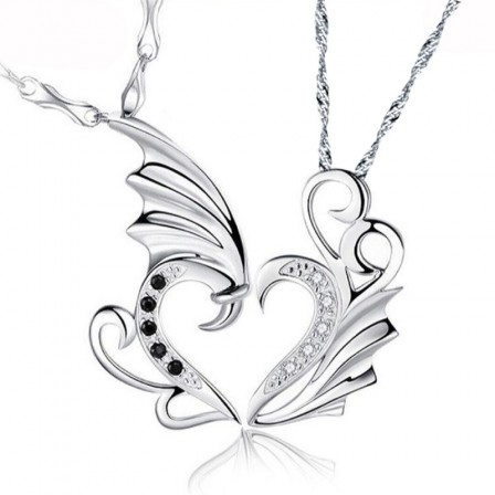Creative Dragon Design Lovers Necklacess