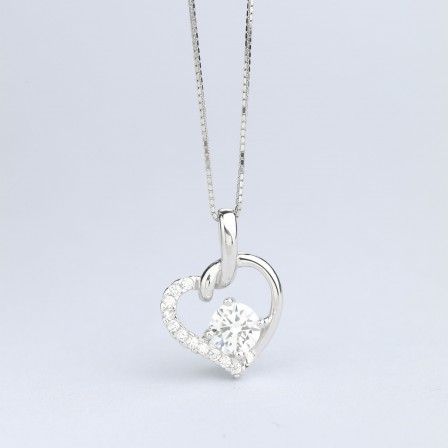 925 Silver Trendy Rhinestone Ladies' Necklace With Chain