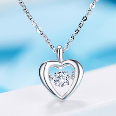 Silver Romantic Rhinestone Ladies' Necklace With Chain