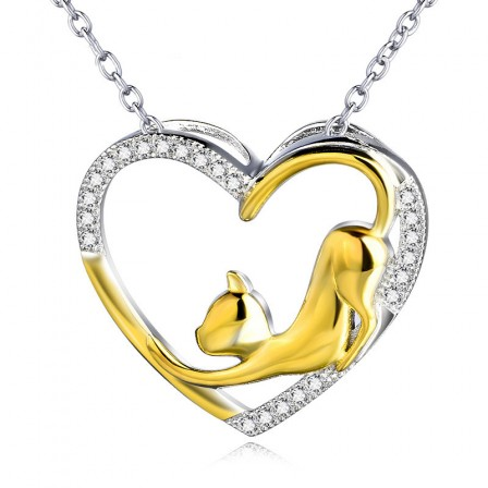 Silver Trendy 3A Zircon Ladies' Necklace With Chain