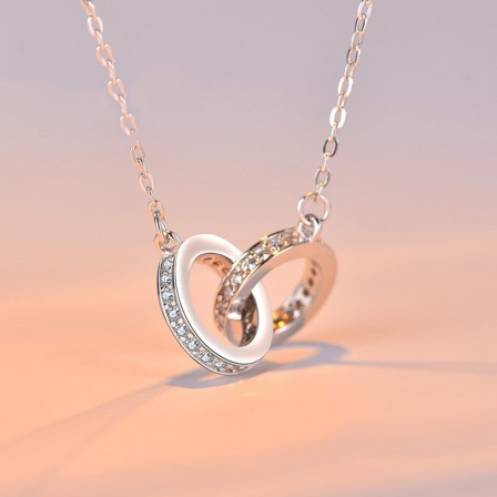Personality Design 925 Silver 3A Zircon Ladies' Necklace With Chain