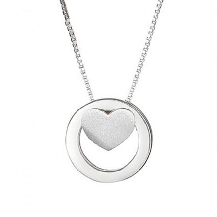 925 Silver Personality Design 3A Zircon Ladies Necklace Pendant