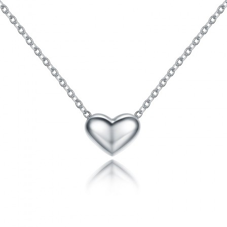 Chic 925 Silver 3A Zircon Ladies' Necklace With Chain