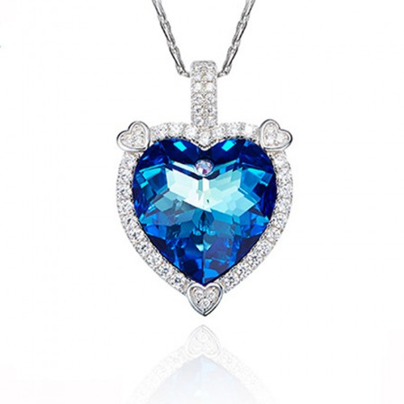 S925 Sterling Silver High-End Crystal Necklace