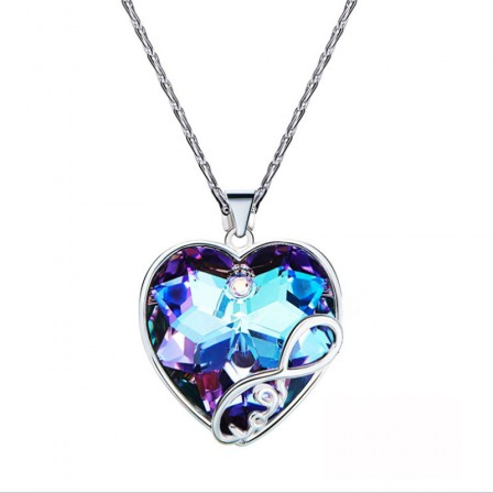 High-End Crystal S925 Sterling Silver Necklace