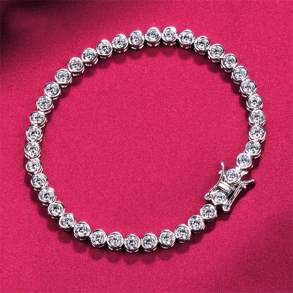 Fine Cutting High-Class ESCVD Diamonds Women Bracelets