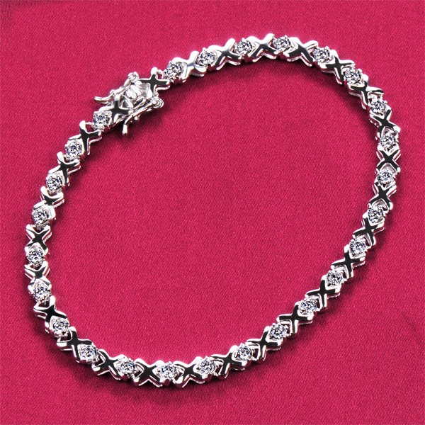 Simple Design Adjustable ESCVD Diamonds Women Bracelets