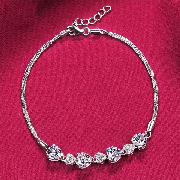 Best Wishes Heart Shape ESCVD Diamonds Women Bracelets