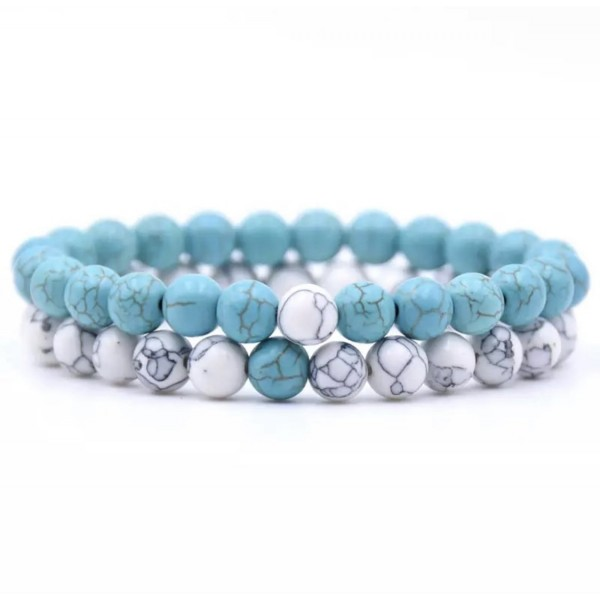 Distance Bracelets - Light Blue