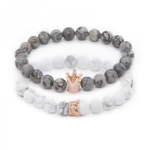Crown Distance Bracelets - Platinum