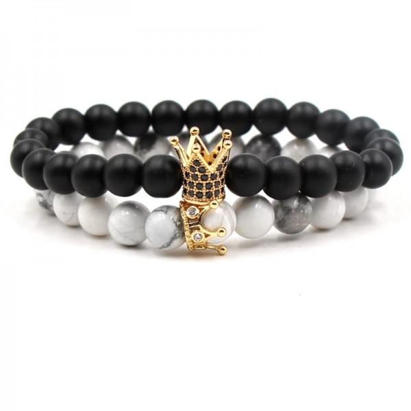 Crown Distance Bracelets - Gold