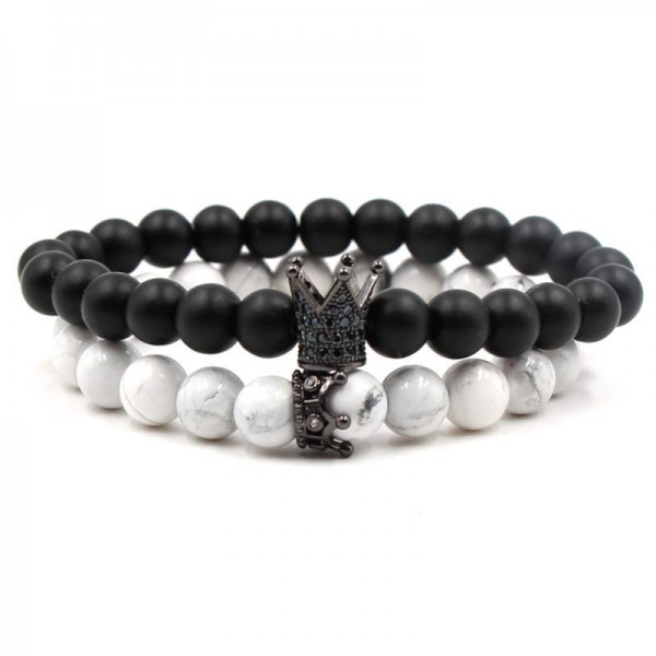 Crown Distance Bracelets - Black