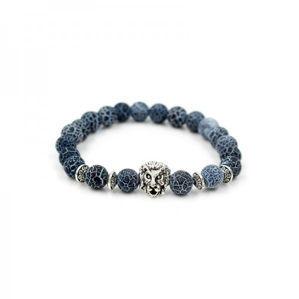Classic Vein With Silver/Gold Lion Bracelet