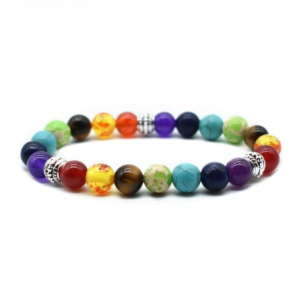 Natural Stone 7 Chakra Energy Bracelet