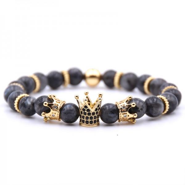 Black ShimmerStone Cross-Shaped Elastic Bracelet