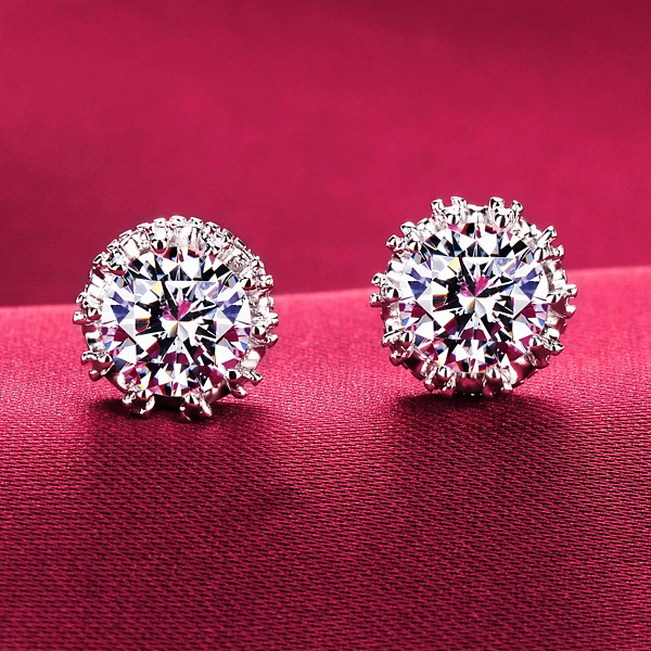 0.6 Carat Shinning Like Stars ESCVD Diamonds Women Earrings