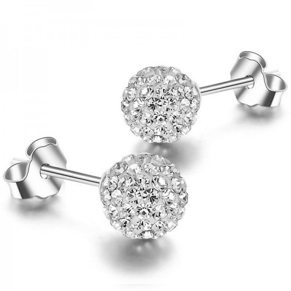 Mini Sweet S925 Sterling Silver Cubic Zirconia Stud Earrings