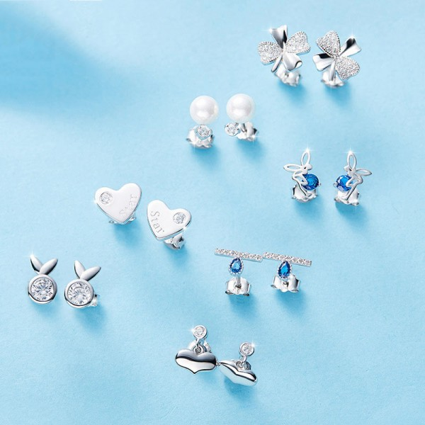 S925 Sterling Silver Simple Anti-Allergy Stud Earrings