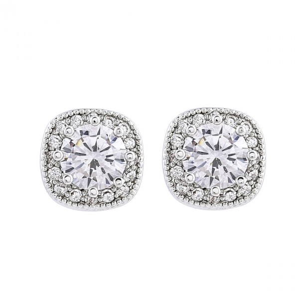 Simple Ladies S925 Sterling Silver Anti-Allergy Earrings