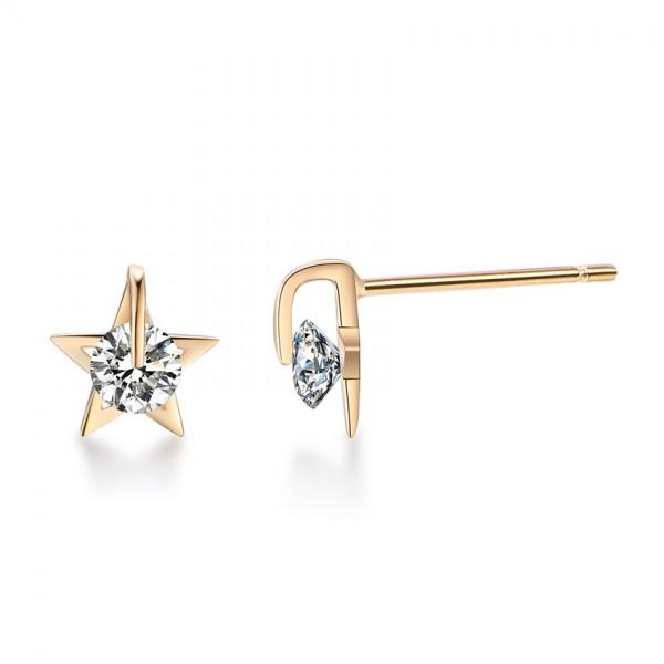 S925 Sterling Silver Cubic Zirconia Mini Simple Female Earrings
