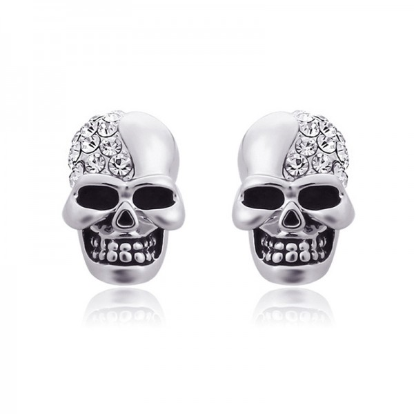 Antique Skull Alloy Halloween Stud Earrings