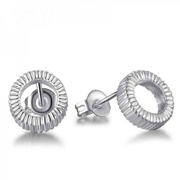 Hot S925 Sterling Silver Round Shape Eardrop