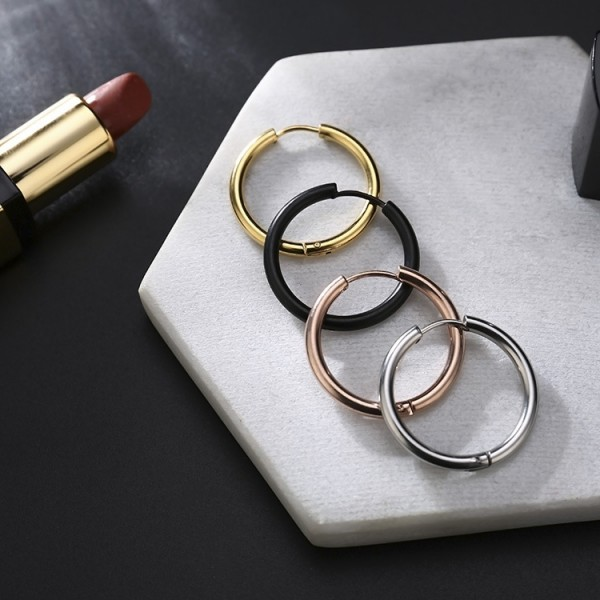 2018 New Style Circle Titanium Anti-Allergy Earring Accessories