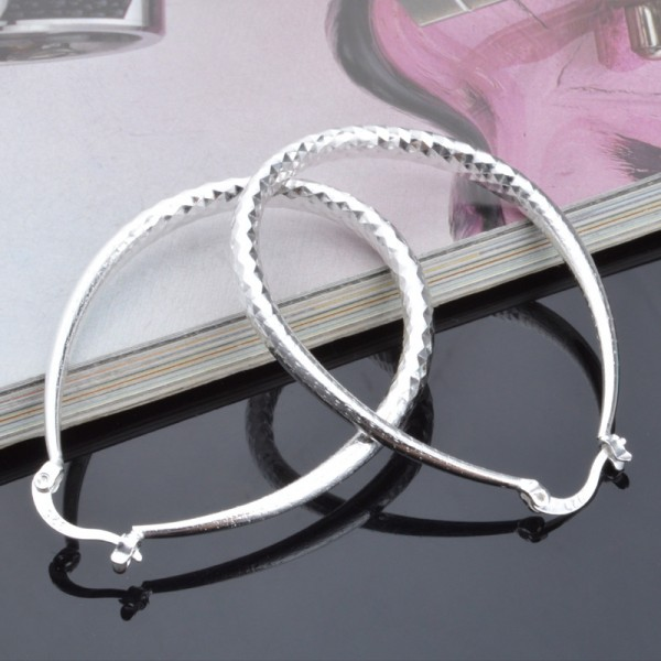 New S925 Sterling Silver Snake Belly Earrings