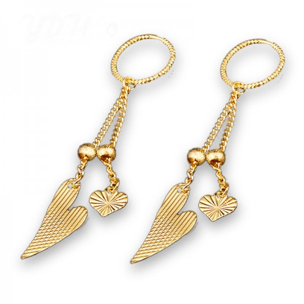 Golden Fashionable S925 Sterling Silver Tassels Eardrop