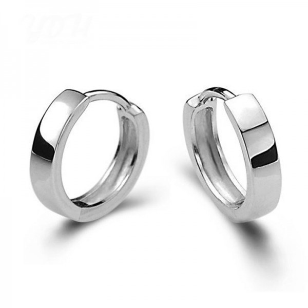 S925 Sterling Silver Small Exquisite Earrings For Males Females