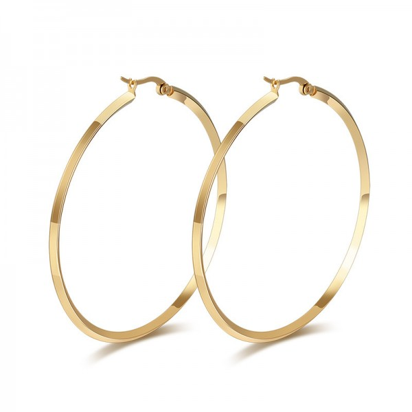 Gold Plated 18K Titanium Exaggerated Earrings