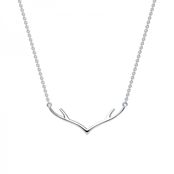 Elk Silver Necklace Korean Fashion Simple and Short Necklace