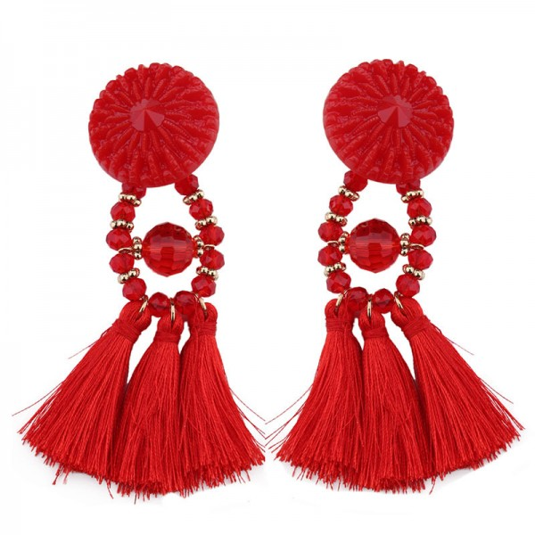 Fashion Female Long Retro Bohemia Temperament Earrings