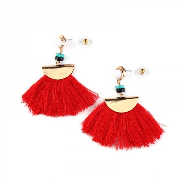 Hot Selling Retro Fan-Shaped Ethnic Style Earrings