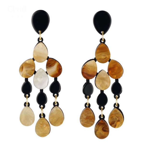 European New Trendy Creative Acrylic Pendant Earrings