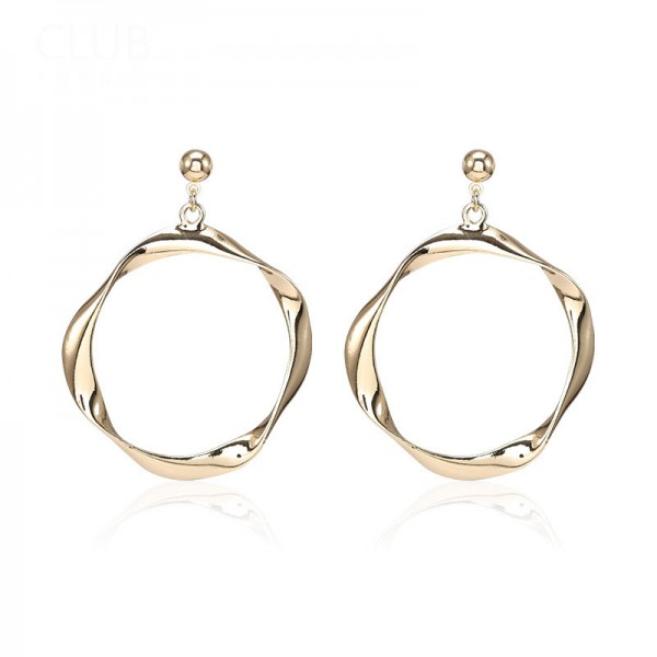 New High-Quality Twist Alloy Round Eardrop