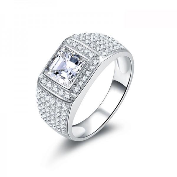 S925 Sterling Silver Wedding Diamond Ring