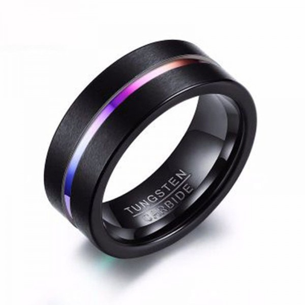 Tungsten Black Ring For Men Simple and Cool Dull Polish Craft