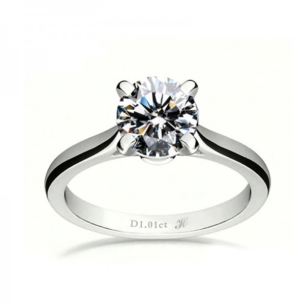 925 Sterling Silver Ring For Women 0.46 Carat Elegant and Decent