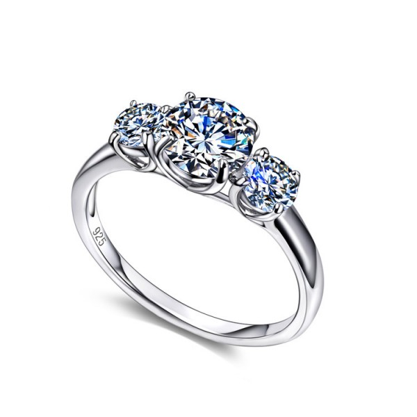 925 Sterling Silver Ring For Women Inlaid Cubic Zirconia Flowers Design Luxury and Exquisite