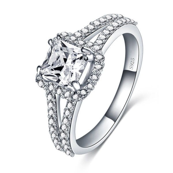925 Sterling Silver Ring For Women Square Design Inlaid Cubic Zirconia Micro-diamond Decoration Interwined Design Liberality and Fashion