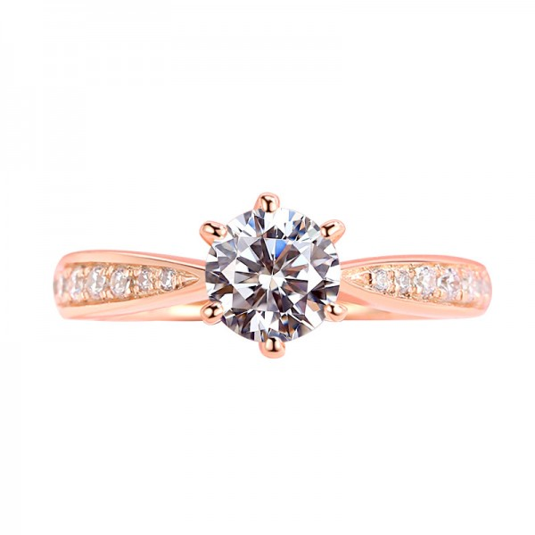 925 Sterling Silver Ring For Women Inlaid Cubic Zirconia Plating 18K Platinum Rose Gold Color Luxury and Exquisite
