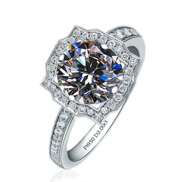 925 Sterling Silver Ring For Women Inlaid Cubic Zirconia Square Design Micro-diamond Decoration Liberality and Luxury Optional Carat
