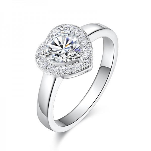 High-End Diamond Jewelry Women Wedding Ring