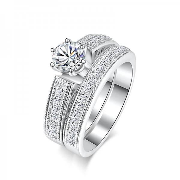 925 Sterling Silver Ring For Women Inlaid Cubic Zirconia 0.6 Carat Detachable Design Luxury and Exquisite Polish Craft