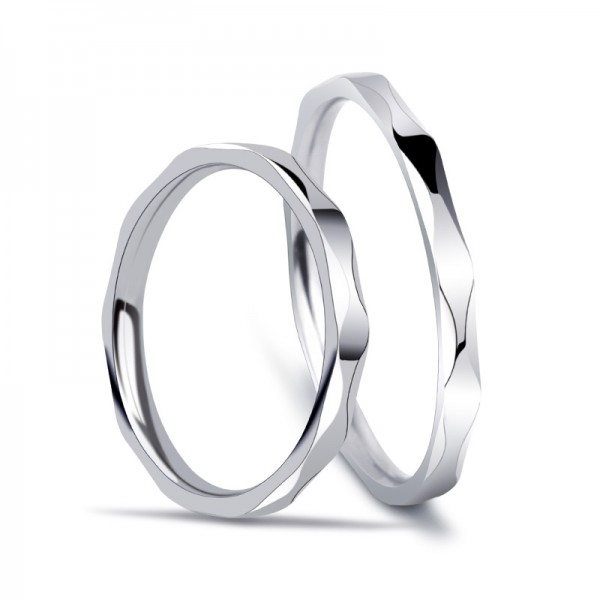 Titanium Silvery Ring For Couples Waving Design Mature and Fashion Style Smooth Inner Arc Design Comfortable to Wear