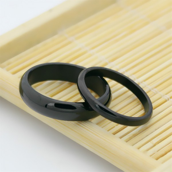 Titanium Black Ring For Couples Polish Craft Simple and Fashion