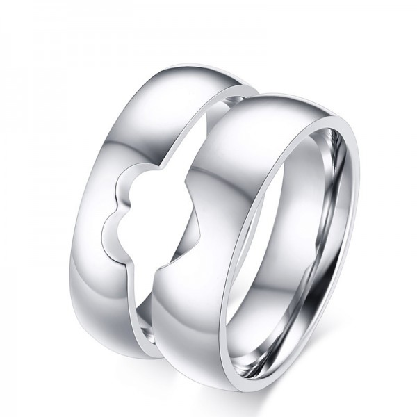 Titanium Steel Couple Rings Design Valentine'S Day Present